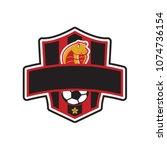 cobra emblem logo for football... | Shutterstock .eps vector #1074736154