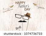 happy fathers day template... | Shutterstock .eps vector #1074736733