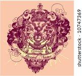 vintage template | Shutterstock .eps vector #10747369