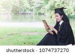 happy graduate young asian... | Shutterstock . vector #1074737270