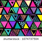 abstract seamless pattern.... | Shutterstock .eps vector #1074737504
