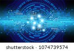 binary circuit board future...   Shutterstock .eps vector #1074739574