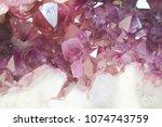 amethyst natural mineral... | Shutterstock . vector #1074743759