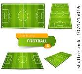 football  soccer court. four... | Shutterstock .eps vector #1074745016