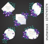 iris flower wedding invitation... | Shutterstock .eps vector #1074745574