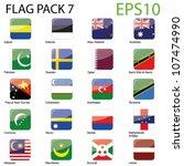 world flags   pack 7 vector | Shutterstock .eps vector #107474990