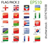world flags   pack 2 vector | Shutterstock .eps vector #107475038