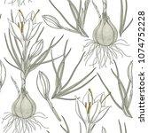 vector floral seamless pattern... | Shutterstock .eps vector #1074752228