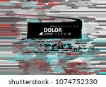 abstract background with glitch ... | Shutterstock .eps vector #1074752330