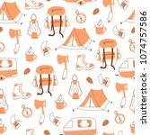 vector seamless pattern with... | Shutterstock .eps vector #1074757586