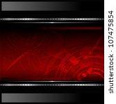technological red background... | Shutterstock .eps vector #107475854