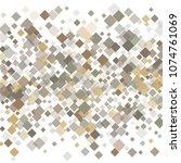 rhombus white minimal geometric ... | Shutterstock .eps vector #1074761069