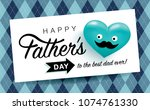 happy father's day greeting... | Shutterstock .eps vector #1074761330