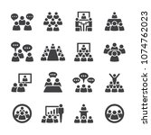 conference icon set | Shutterstock .eps vector #1074762023