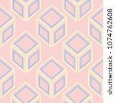 geometric seamless pattern.... | Shutterstock .eps vector #1074762608