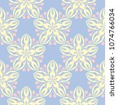 floral seamless pattern. pale... | Shutterstock .eps vector #1074766034