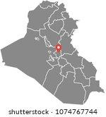 iraq map vector outline... | Shutterstock .eps vector #1074767744