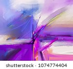 abstract colorful oil painting... | Shutterstock . vector #1074774404