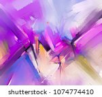 abstract colorful oil painting... | Shutterstock . vector #1074774410