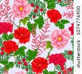 floral seamless pattern ... | Shutterstock .eps vector #1074776900