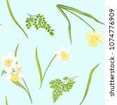 floral seamless pattern ... | Shutterstock .eps vector #1074776909