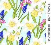 floral seamless pattern ... | Shutterstock .eps vector #1074776936