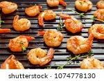 delicious fried shrimps in... | Shutterstock . vector #1074778130