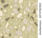 terrazzo seamless pattern. tile ... | Shutterstock .eps vector #1074782303