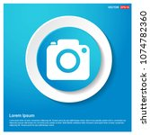 photo camera icon abstract blue ... | Shutterstock .eps vector #1074782360
