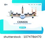 canada. travel banner or web...