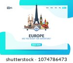 europe. travel banner or web...