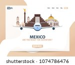 mexico. travel banner or web...