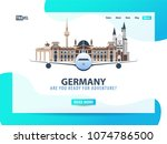 germany. travel banner or web...