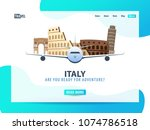 italy. travel banner or web...