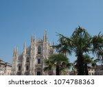 duomo di milano  meaning milan...   Shutterstock . vector #1074788363
