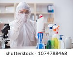 chemist checking the quality of ... | Shutterstock . vector #1074788468