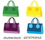 woman bags vector | Shutterstock .eps vector #1074793910