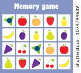 memory game with pictures ... | Shutterstock .eps vector #1074794639