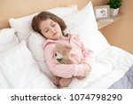 sweet dreams. adorable cute... | Shutterstock . vector #1074798290
