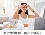 smoothening massage. beautiful... | Shutterstock . vector #1074798338