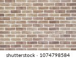 light brown brick wall... | Shutterstock . vector #1074798584