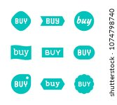 buy sign and sticker  sale tag  ... | Shutterstock .eps vector #1074798740