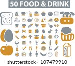50 food   drink icons set ... | Shutterstock .eps vector #107479910