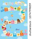 illustration vector of kids... | Shutterstock .eps vector #1074799859