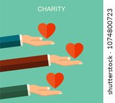 charity and donation concept.... | Shutterstock . vector #1074800723