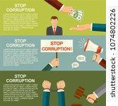 stop corruption concept.... | Shutterstock . vector #1074802226