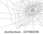 Isolated Spider Web Or Cobweb...