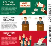 elections and voting concept ... | Shutterstock . vector #1074803579