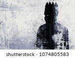 abstract dark king sketch on... | Shutterstock . vector #1074805583