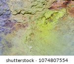 sulphur gas coming out of the... | Shutterstock . vector #1074807554